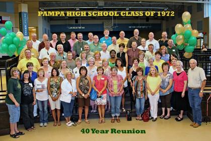 Pampa High School Class Of 1972, Pampa, TX